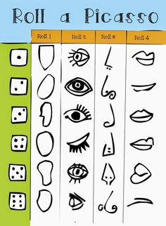 Bildergebnis für roll a picasso Kunst Picasso, Picasso Art, Pablo Picasso, Picasso Drawing, Picasso Kids, Middle School Art, Art School, Ecole Art, School Art Projects