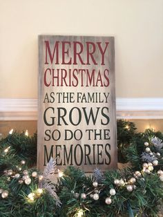 Hand Painted Distressed Sign: Christmas Memories, Country Christmas, Rustic Christmas on Etsy, $35.00