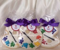 12 Paint Pallet (large) Cookie Favors by The Sweetest Thing Designs & Events on Etsy, $48.00