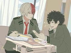 My Hero Academia // BNHA // Shoto Todoroki // Izuku Midoriya // Deku