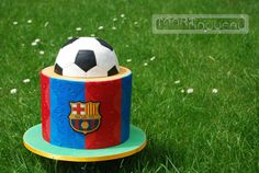 FC Barcelona cake for a girl
