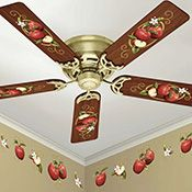 Wonderful Apple Kitchen Ceiling Fan And Wall Removable Decals