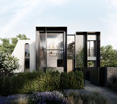 Marmont – Marmont presents a collection of seven bespoke townhouses designed to evoke a sense of individuality. Townhouse Exterior, Modern Townhouse, Townhouse Designs, Duplex Design, Modern House Design, Facade Design, Exterior Design, Modern Architecture House, Architecture Design