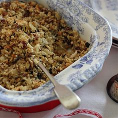 Sage, Date & Pistachio Stuffing by Nessa Robins. | A festive wholesome recipe to complete your roast dinner.