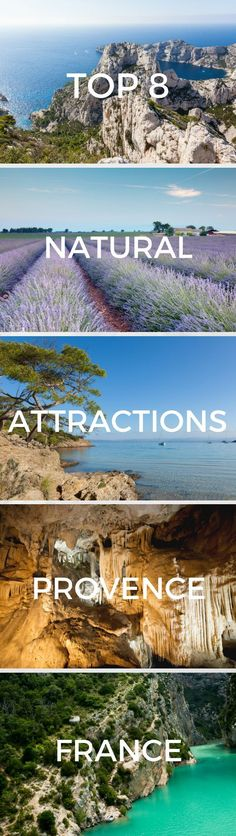 Provence is a region of France that is rich in natural beauty and inspiring attractions. Find the best natural attractions in Provence, France