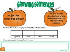 Teach123 - tips for teaching elementary school: Growing sentences