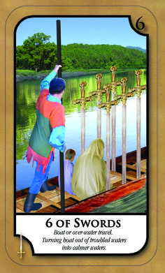 #SimplyTarotCard for Tuesday 10th January 2017 6 OF SWORDS Boat or over water travel. Turning boat out of troubled water into calmer waters. Join our news letter @ www.amandahallpsychic.com.au Lots of events and great special prices on products and services.  Like our FB Page https://www.facebook.com/amandahallpsychic/ Twitter: PsychicAmandaH Intsagram psychicamandah Pinterest:PsychicAmandaH Google+ : https://plus.google.com/u/0/