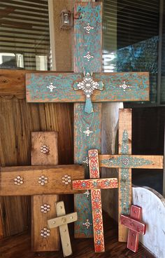 Rustic Crosses...great for porches