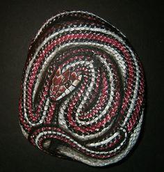 Hand Painted Rock Art - San Francisco Garter Snake