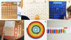 6 calendar ideas for the Montessori children's room (and 3 of them for download)