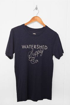 Watershed - Mens clothing - T-shirts - Watershed Supply Co. Script T-Shirt Blue