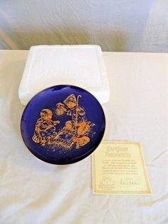 LINDNER KUEPS BAVARIA - HOLLY NIGHT DECORATIVE PLATE  -LIMITED EDITION – 1978 –