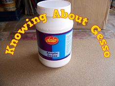 Knowing About Gesso Product Review, Art Techniques, Arts And Crafts, Pretty, Blog, Plastering, Blogging, Art And Craft, Art Crafts