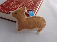Welsh+Corgi+Keychain+Felt+Key+ring+Dog+Bag+Charm+by+SockSockWorld,+$8.98