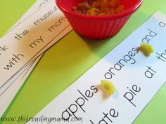 I love this idea of placing commas in a sentence with elbow macaroni! This is a hands-on way for the students to practice punctuation. I think this strategy could also be used when teaching about apostrophes and possessive nouns.