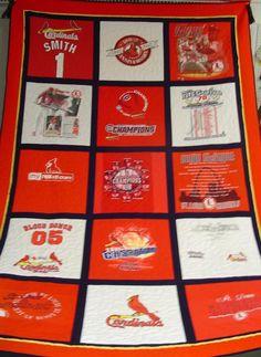 cardinal t-shirt quilt