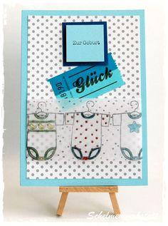 """Babykarte mit Wertmarke """"Glück"""""""