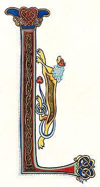 lettrines celtes ©Claire Travers L: