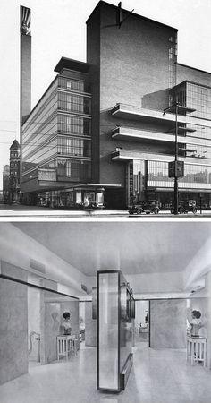 De Bijenkorf department store, Rotterdam  Willem Marinus Dudok, 1929-1930
