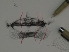 Pen & Ink Drawing Tutorials | How to draw realistic lips (+playlist)