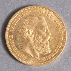 20 Gold mark Prussia 1888 empire weight 7.965 Gr. By 900er fineness. Dealer Badisches Auktionshaus Auction Minimum Bid: 200.00EUR