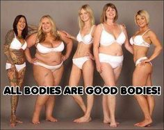 all bodies are good bodies | HAES® Resources. Who comes up with this bullshit. Healthy is beautiful, health problems aren't. Stay healthy my friends, and put the fast food down