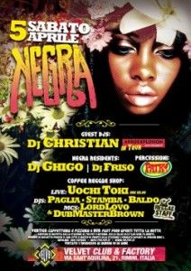 Afro e reggae al Velvet con la serata Negra http://www.nottiromagnole.it/?p=12984