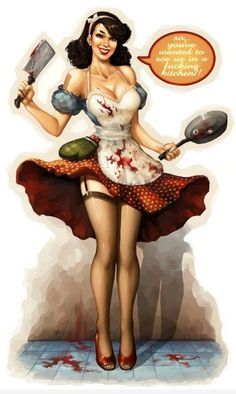 butcher pin-up