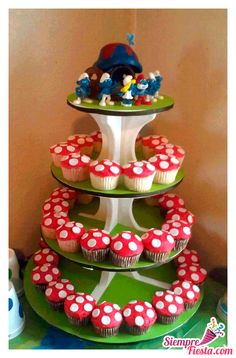1st Birthday Parties, Boy Birthday, Birthday Ideas, Ideas Decoracion Cumpleaños, Baby Party, First Birthdays, Smurfs, Party Themes, Cake Decorating