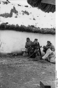 JAN 16 1944 Arctic cold freezes men on the Eastern front battlefield A 8cm mortar team from the Grossdeutschland Division.
