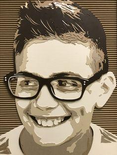 Cardboard portrait by Kevin Hartman: Kellen