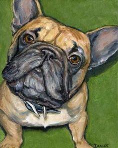 French Bulldog Dog Art 11x14 Print by Dottie by DottieDracos