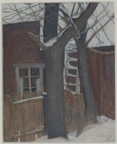 """Courtyard"" - Ellen Thesleff (Finnish, 1869-1954)"