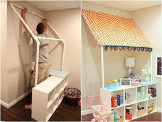 Markise für den Kinder Kaufladen aus PVC Rohren bauen