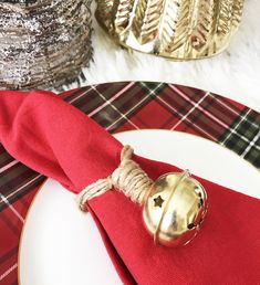 Pottery Barn Inspired Christmas Napkin Ring - The Chelsea Project
