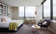 Summer for this winter? Go to Australia! Here is a cute new hotel in Melbourne from the Art Series Hotel Group.