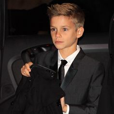 Romeo Beckham for Burberry {so handsome just like his Dad}