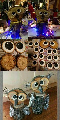 Nature Crafts, Fall Crafts, Diy And Crafts, Crafts For Kids, Arts And Crafts, Wood Log Crafts, Wood Slice Crafts, Christmas Wine, Christmas Crafts