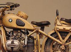 Motorcycle scale model, Lion Roar BMW R75, by Marcel du Long. Pinned by #relicmodels