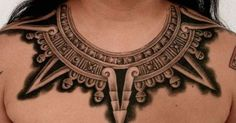 Liked on Pinterest: Aztec necklace Design Tattoo