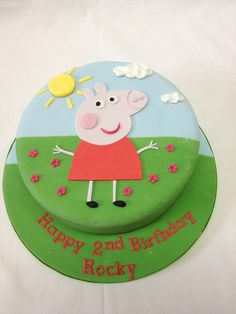 Fun in Sun Peppa Pig Birthday Cake Fun in Sun Peppa Pig Birthday Cake - Egg Free and Gluten Free sponge options Tortas Peppa Pig, Bolo Da Peppa Pig, Peppa Pig Birthday Cake, 2nd Birthday, Peppa Pig Cakes, Birthday Ideas, Peppa Pig Y George, Pig Party, Cake Gallery