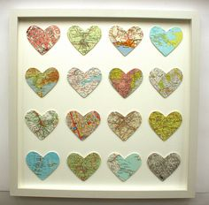 Map hearts for favorite places