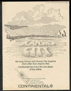 Continental Airlines Vintage Advert