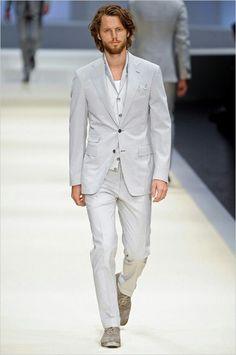 Light gray mens suit