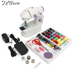 Kiwarm Household Hemline Mini Sewing Machines 2 Speed Ideal Dual Speed Double Thread Multifunction For Automatic Sewing Machine