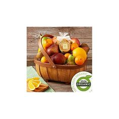 Organic Living Fruit Basket | 5th Anniversary Gifts For Couples, Him, Her
