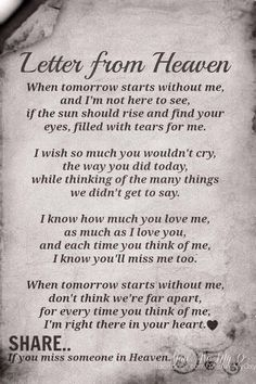 Beautiful quote for our loved ones who are no longer with us ❤