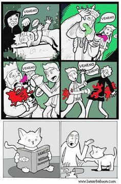La vida de los gatos en 10 divertidos cómics