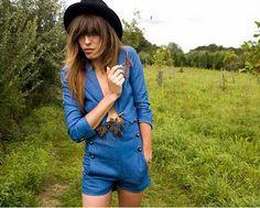 Lou Doillon #fedora #blue