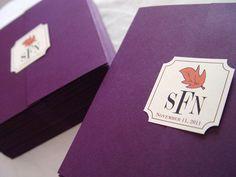 The Katherine - Unique Gatefold Wedding Program. $2.50, via Etsy.  **Shown in smooth plum**